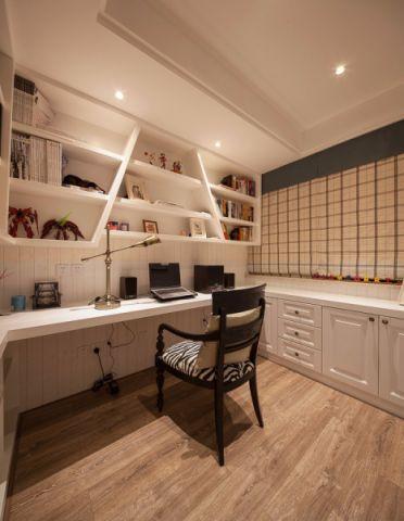 书房地板砖美式风格装潢设计图片