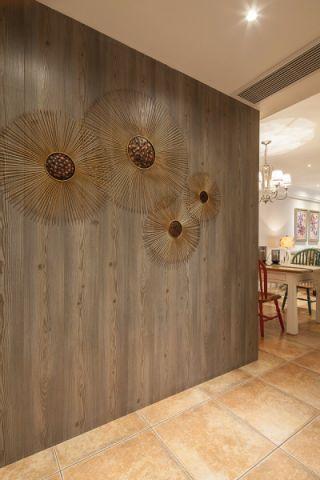 玄关背景墙美式风格装潢效果图