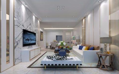 客厅电视柜简约风格装潢效果图