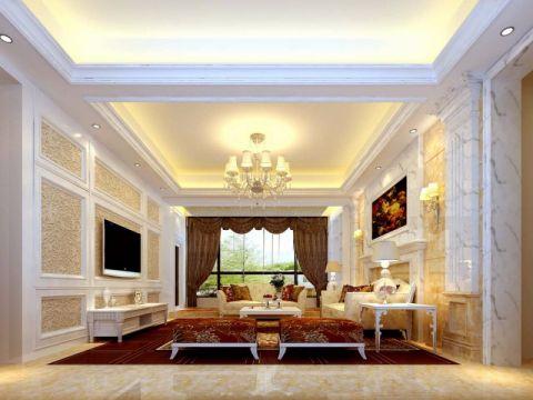 简欧风格270平米别墅室内装修效果图