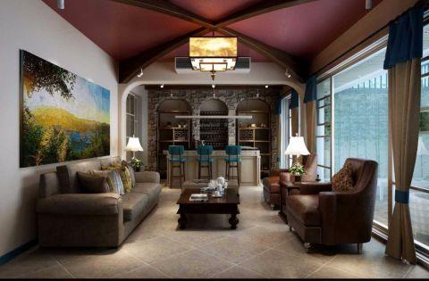 地中海风格260平米别墅室内装修效果图