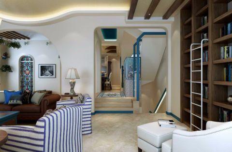 客厅地砖地中海风格装修效果图