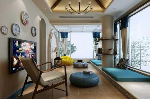 阳台地砖地中海风格装饰图片
