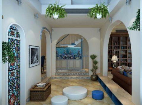 玄关走廊地中海风格装潢图片