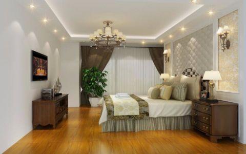 卧室床头柜欧式风格装潢图片
