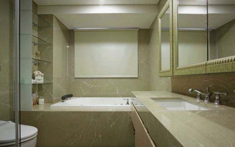 浴室浴缸简欧风格装潢设计图片