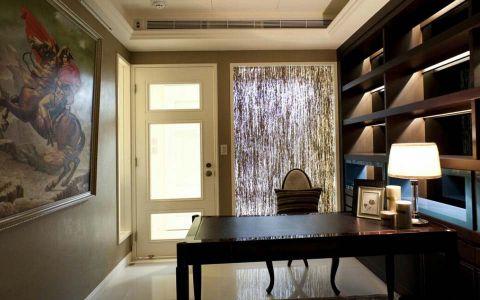书房博古架混搭风格装饰图片
