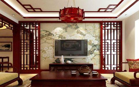 客厅电视柜中式风格装修设计图片