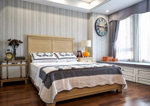 卧室飘窗美式风格装潢设计图片