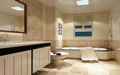 浴室浴缸现代简约风格装修图片