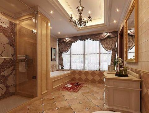 浴室窗帘欧式风格装饰图片