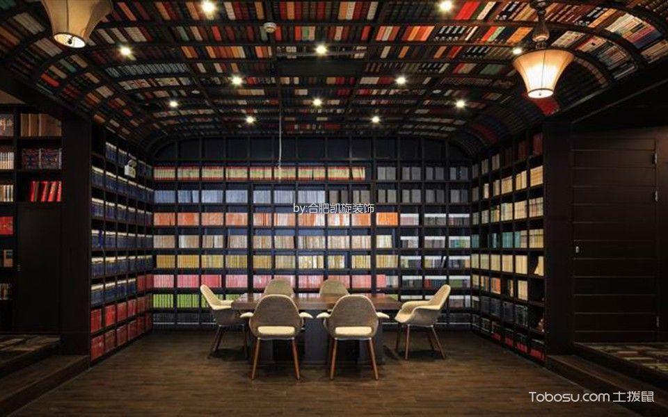 欧式风格图书馆吊顶装潢图片