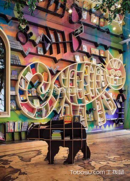 欧式风格图书馆个性书架装潢图片