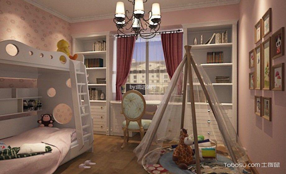 儿童房白色床简欧风格效果图