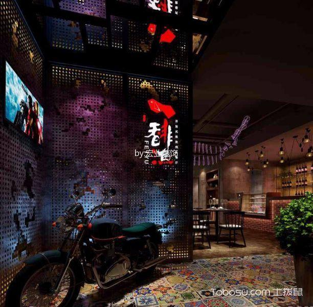 主题餐厅过道装修实景图