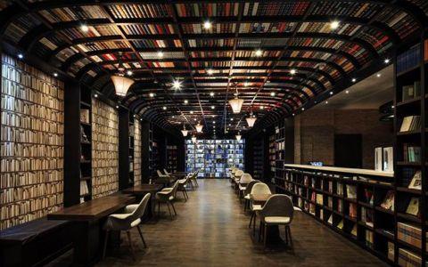 欧式风格图书馆装修效果图