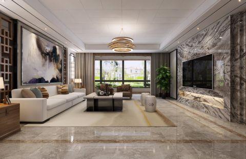 新中式风格210平米大户型室内装修效果图