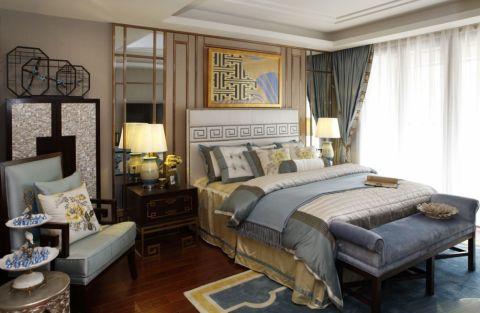 新中式风格350平米别墅室内装修效果图