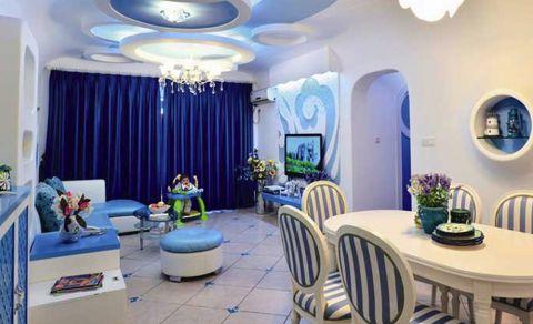 地中海风格90平米公寓新房装修效果图