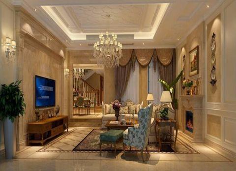 欧式风格180平米复式室内装修效果图
