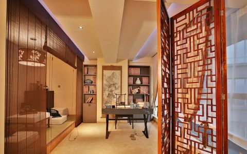 中式风格160平米大户型新房装修效果图