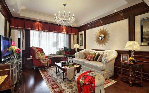 路劲城美式风格四居室装修效果图