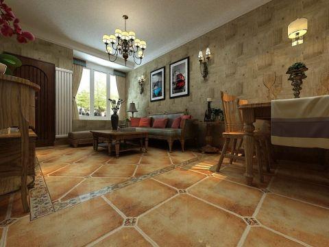 地中海风格130平米三室两厅新房澳门银河娱乐官网