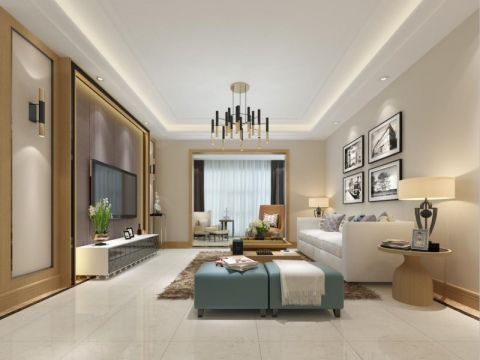 现代风格120平米三室两厅新房澳门银河娱乐官网