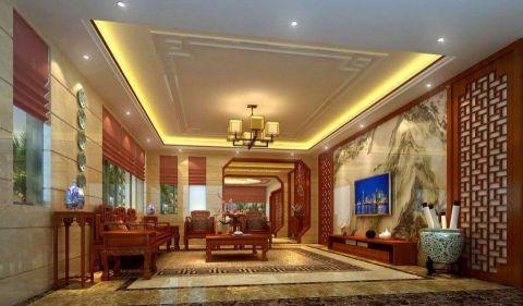 中式风格130平米套房新房装修效果图