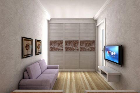 现代简约风格40平米小户型新房装修效果图