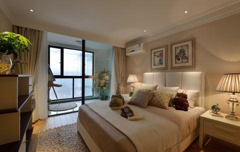 卧室推拉门美式风格装潢效果图