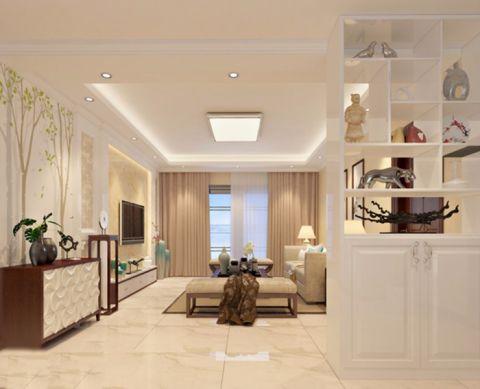 客厅隔断现代简约风格装修设计图片