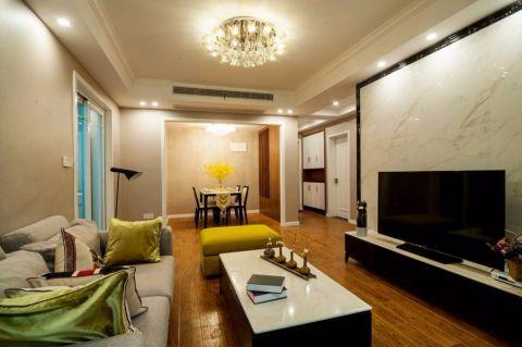 国联乐园88平现代风格二居室实景图