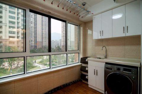 阳台背景墙现代简约风格装饰设计图片