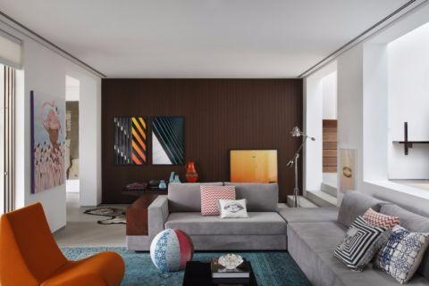 简欧风格93平米三室两厅新房装修效果图