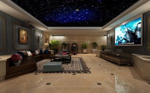 客厅法式风格装潢效果图