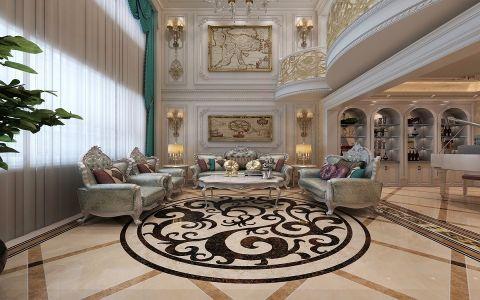 客厅法式风格装潢图片