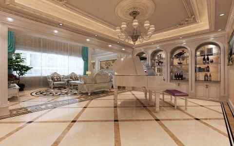 客厅吊顶法式风格装修设计图片