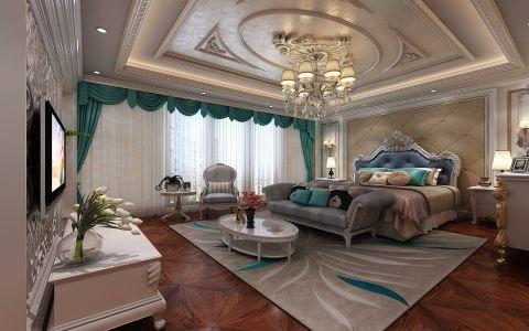 卧室窗帘法式风格装潢设计图片