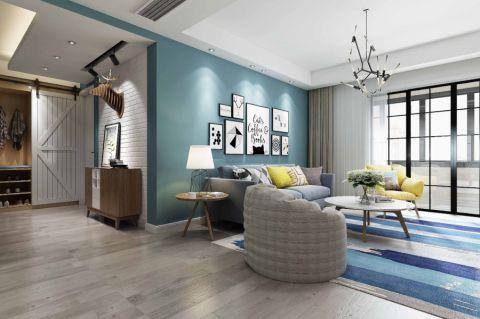 英伦联邦两居室100平北欧风格二居室装修效果图