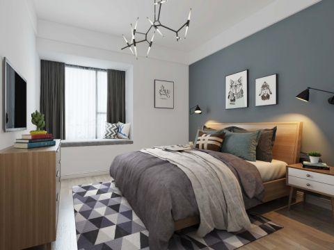 卧室飘窗北欧风格装修设计图片