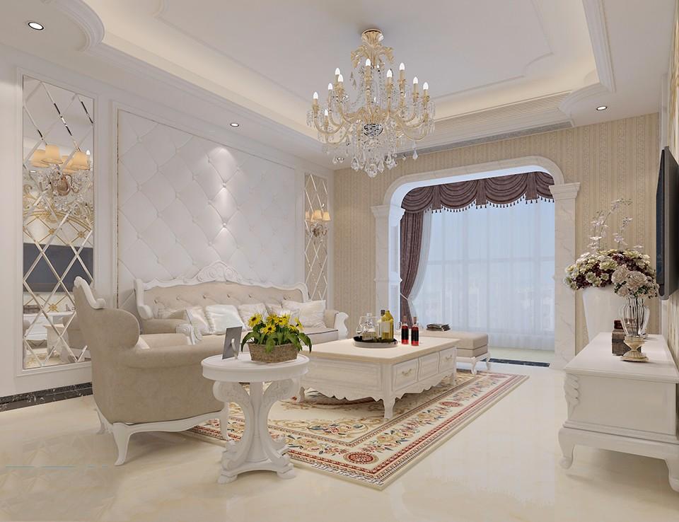 3室2卫2厅91平米欧式风格