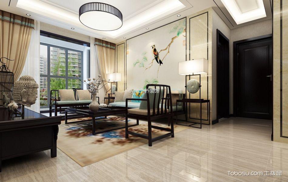 70平米新中式二居室设计