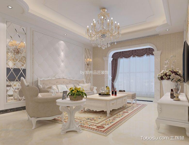 欧式风格100平米公寓新房装修效果图