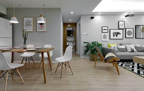 餐厅走廊北欧风格装修设计图片