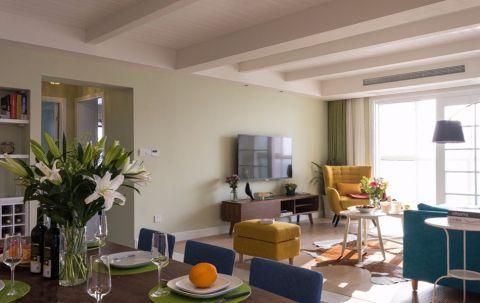 110平美式田园二居室装修图片欣赏