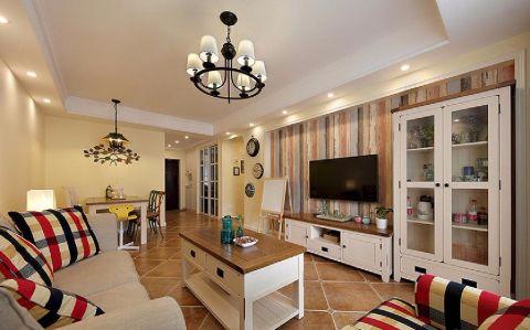 欧式田园风格100平米三室两厅新房装修效果图
