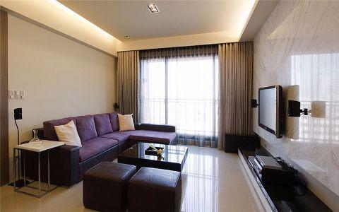 后现代风格88平米三室两厅新房装修效果图
