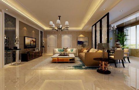 朴素温馨白色客厅装饰图片