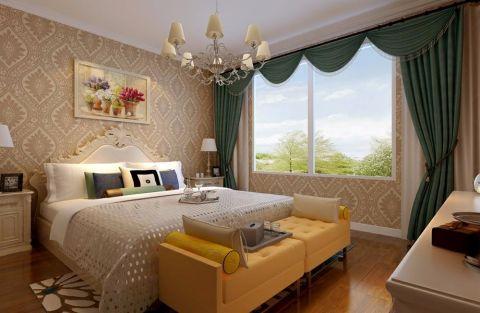 迷人卧室窗帘装潢图片